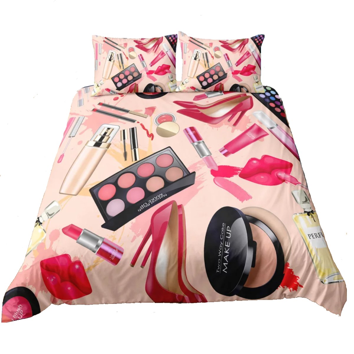 Makeup Theme Bedding With Pillow Cases - lexinoelbeauty.com