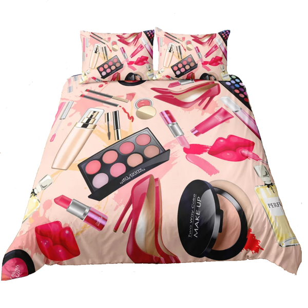 Makeup Theme Bedding With Pillow Cases