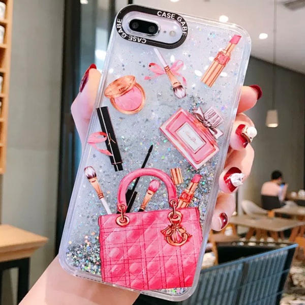 iPhone 11 Cellphone Phone Case Makeup Theme Pro Max Liquid Whats In Your Bag