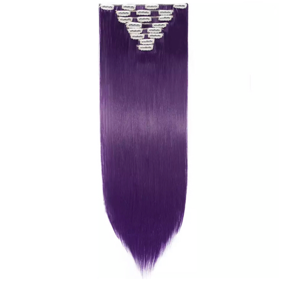 Clip In Hair Extensions Purple Straight Hair Lexi Noel Beauty