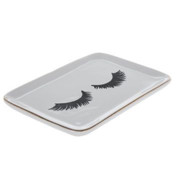 Jewelry Trinket Tray Eyelash Theme