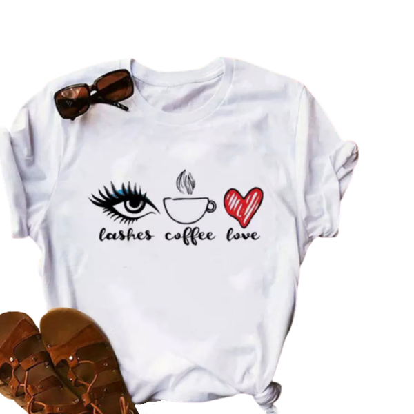 Lashes Coffee Love shirt Clothing Theme
