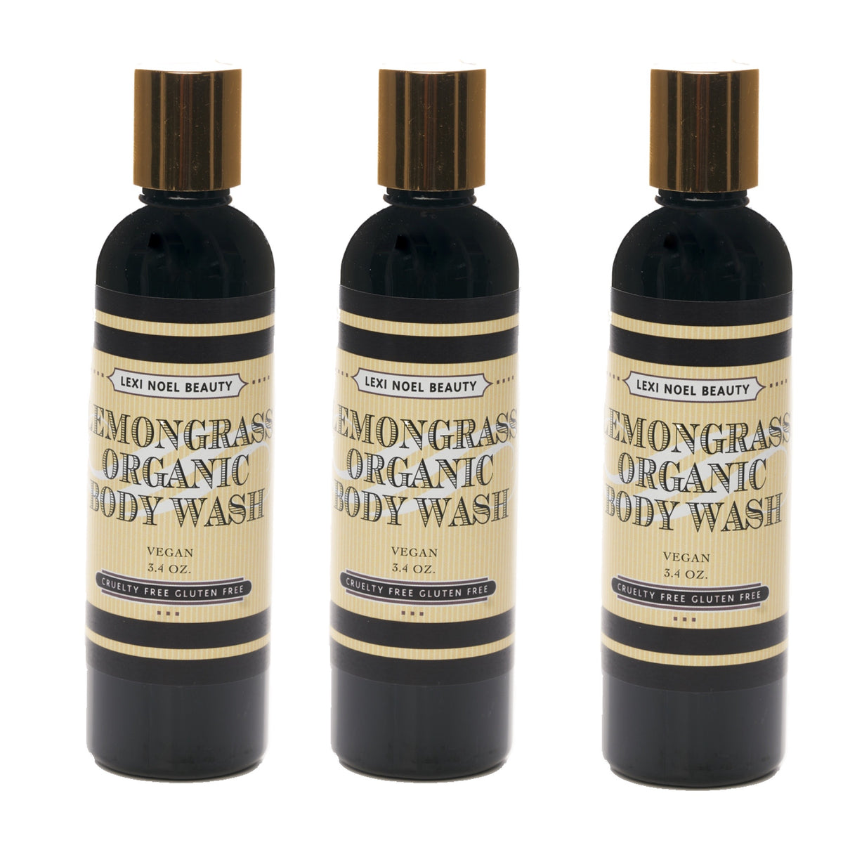Body Wash Lemongrass Scent Lexi Noel Beauty - lexinoelbeauty.com