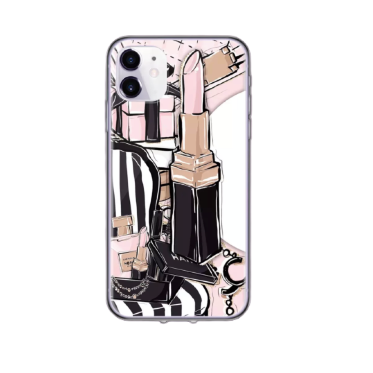 iPhone 11 Cellphone Case Makeup Theme Pro Max