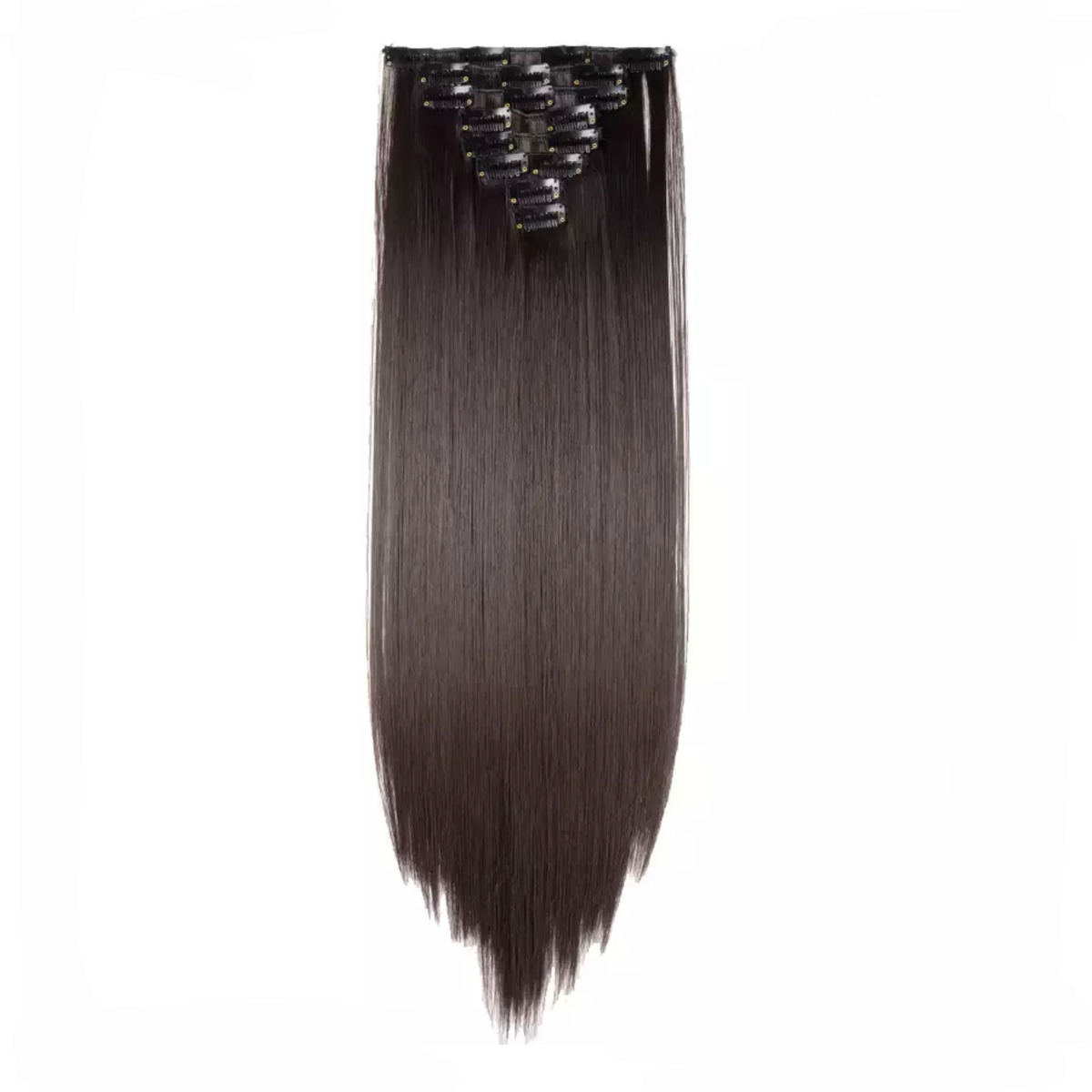 Clip In Hair Extensions Dark Brown Lexi Noel Beauty - lexinoelbeauty.com