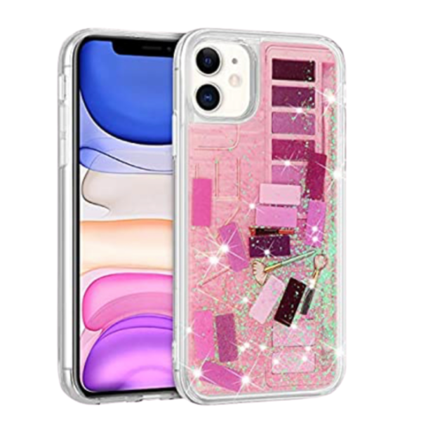 iPhone 11 Cellphone Phone Case Makeup Theme Pro Max Liquid Eyeshadow