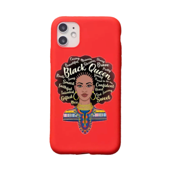 iPhone 11 Cellphone Phone Case Makeup Theme Pro Max Black Girl Queen