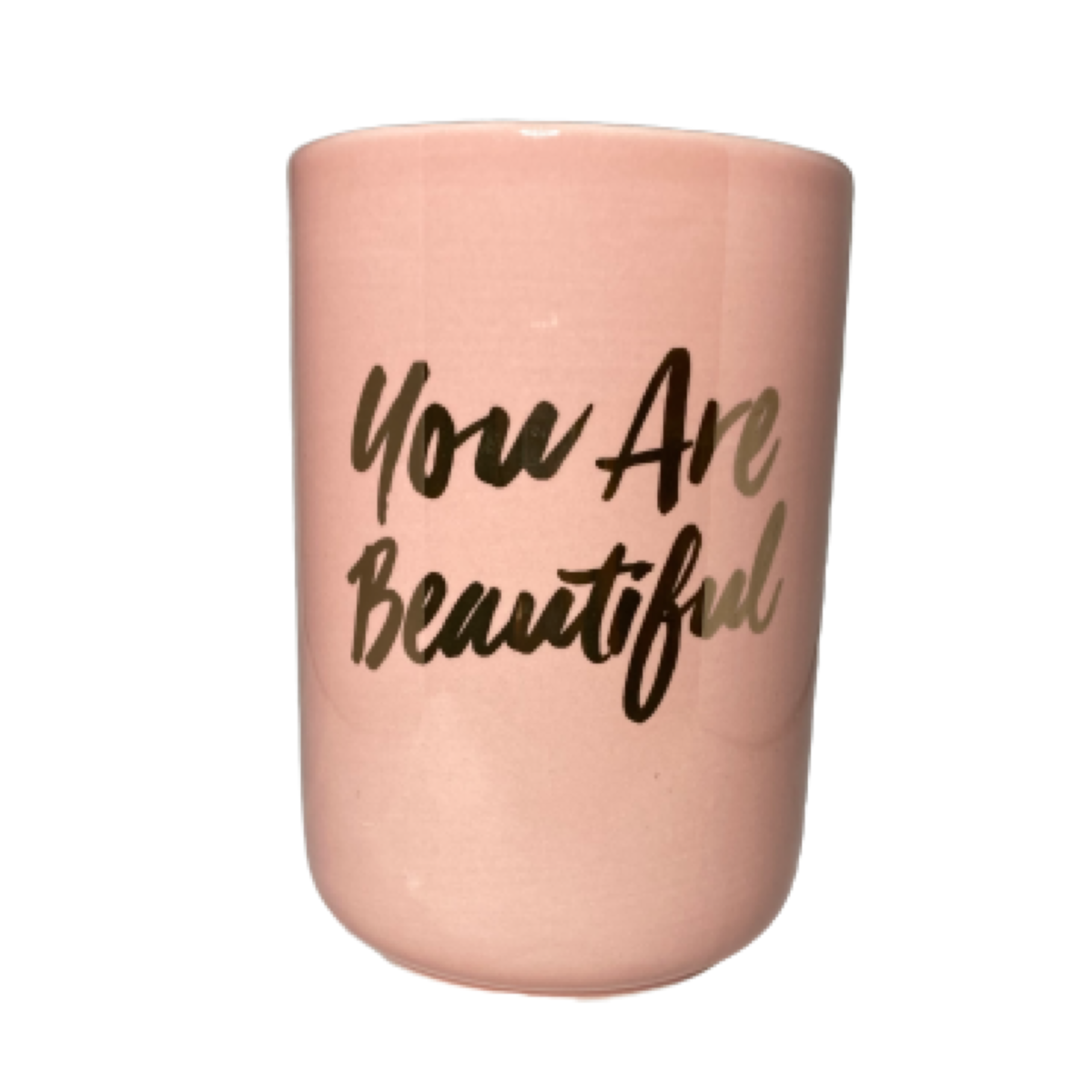 Makeup Brush Holder You Are Beautiful Pink