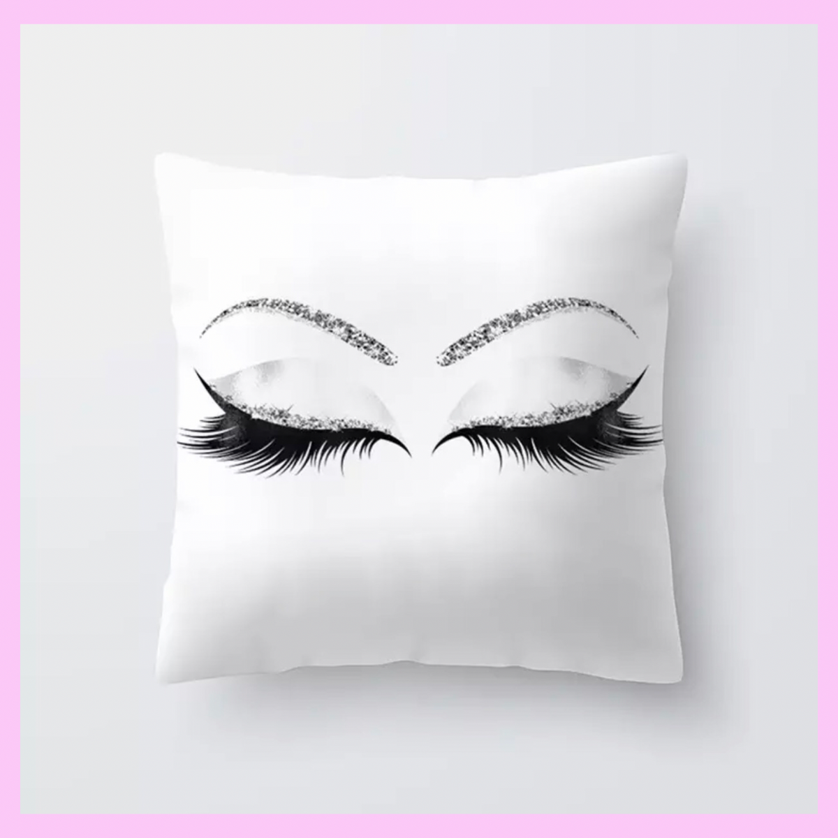 Lash Theme Makeup Throw Pillows - lexinoelbeauty.com