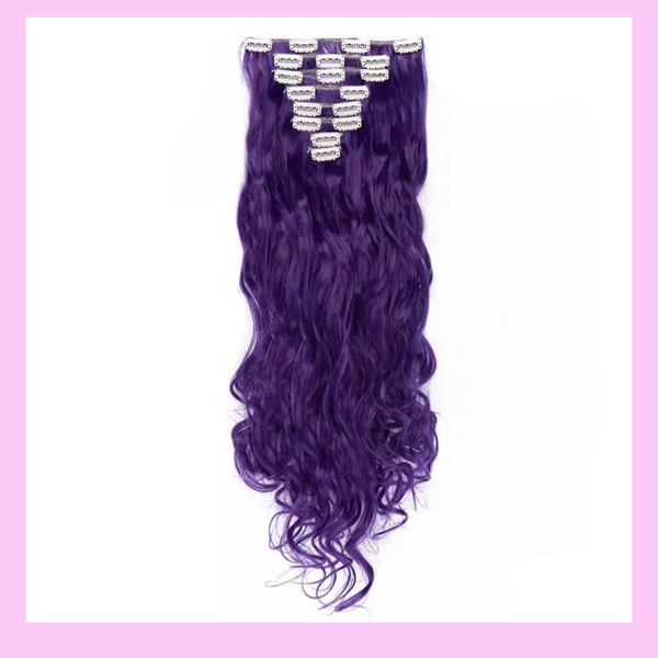 Clip In Hair Extensions (Purple) Soft Curls Lexi Noel Beauty - lexinoelbeauty.com