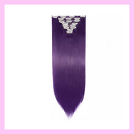 Clip In Hair Extensions Purple Straight Hair Lexi Noel Beauty - lexinoelbeauty.com