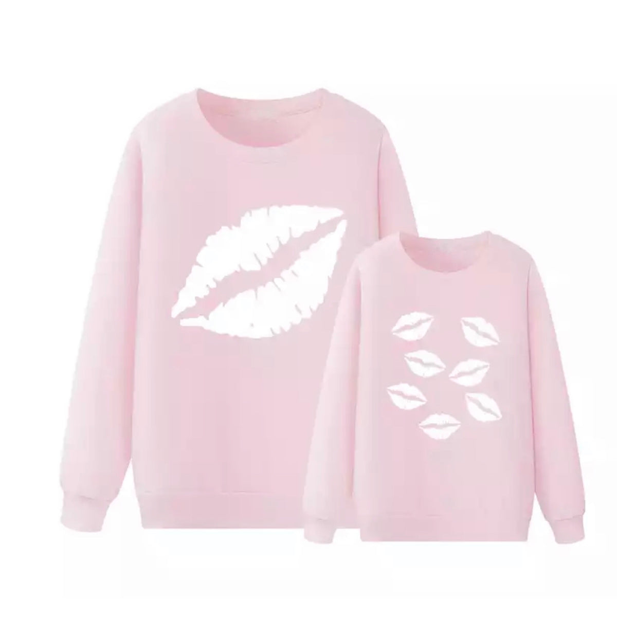 Lips Sweatshirt Mother Daughter Matching Child Size