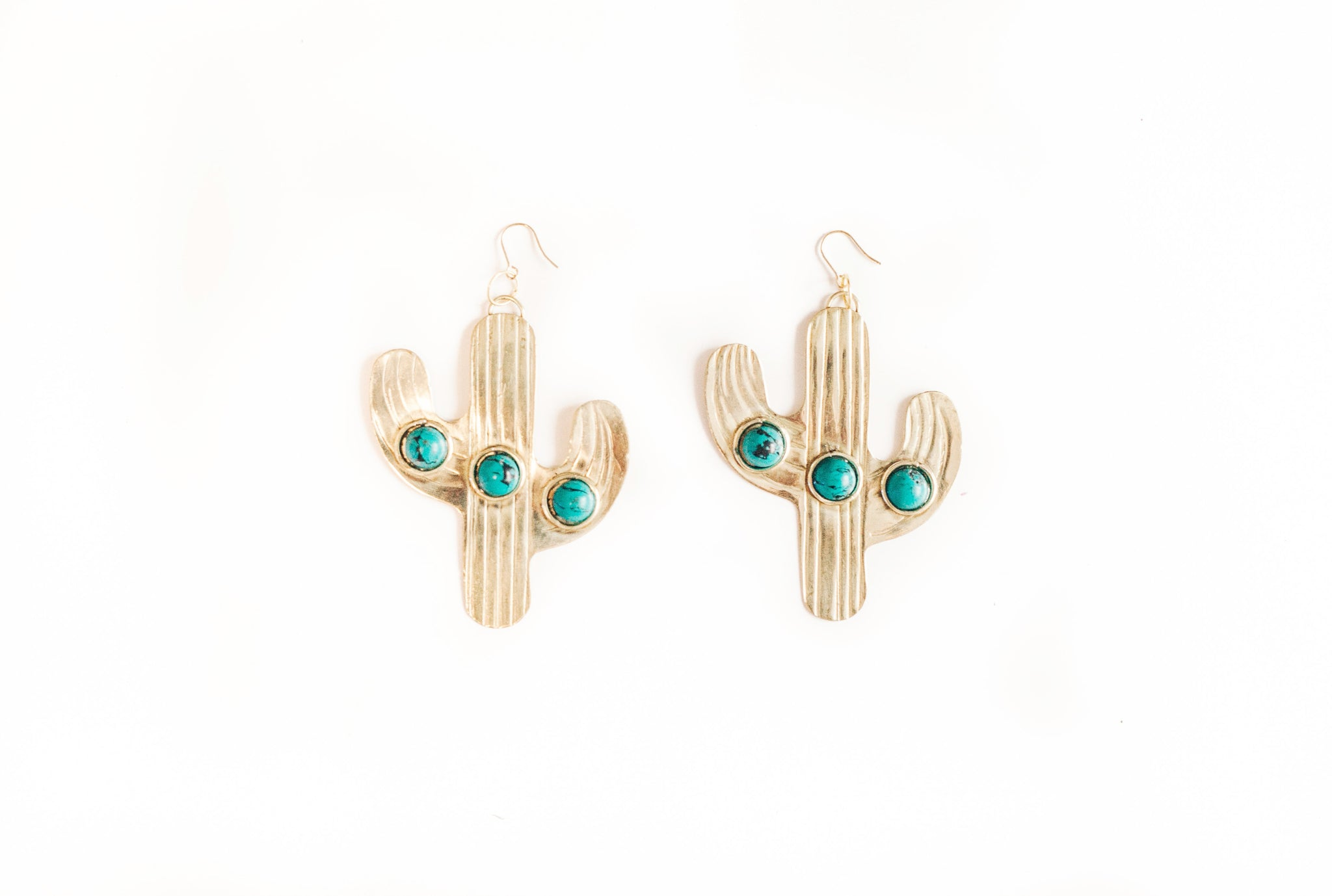Cactus Earrings | Turquoise Earrings | Desert Rose Earrings