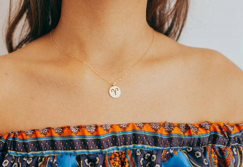Aries Necklace | Zodiac Necklace | 14k gold filled aries necklace