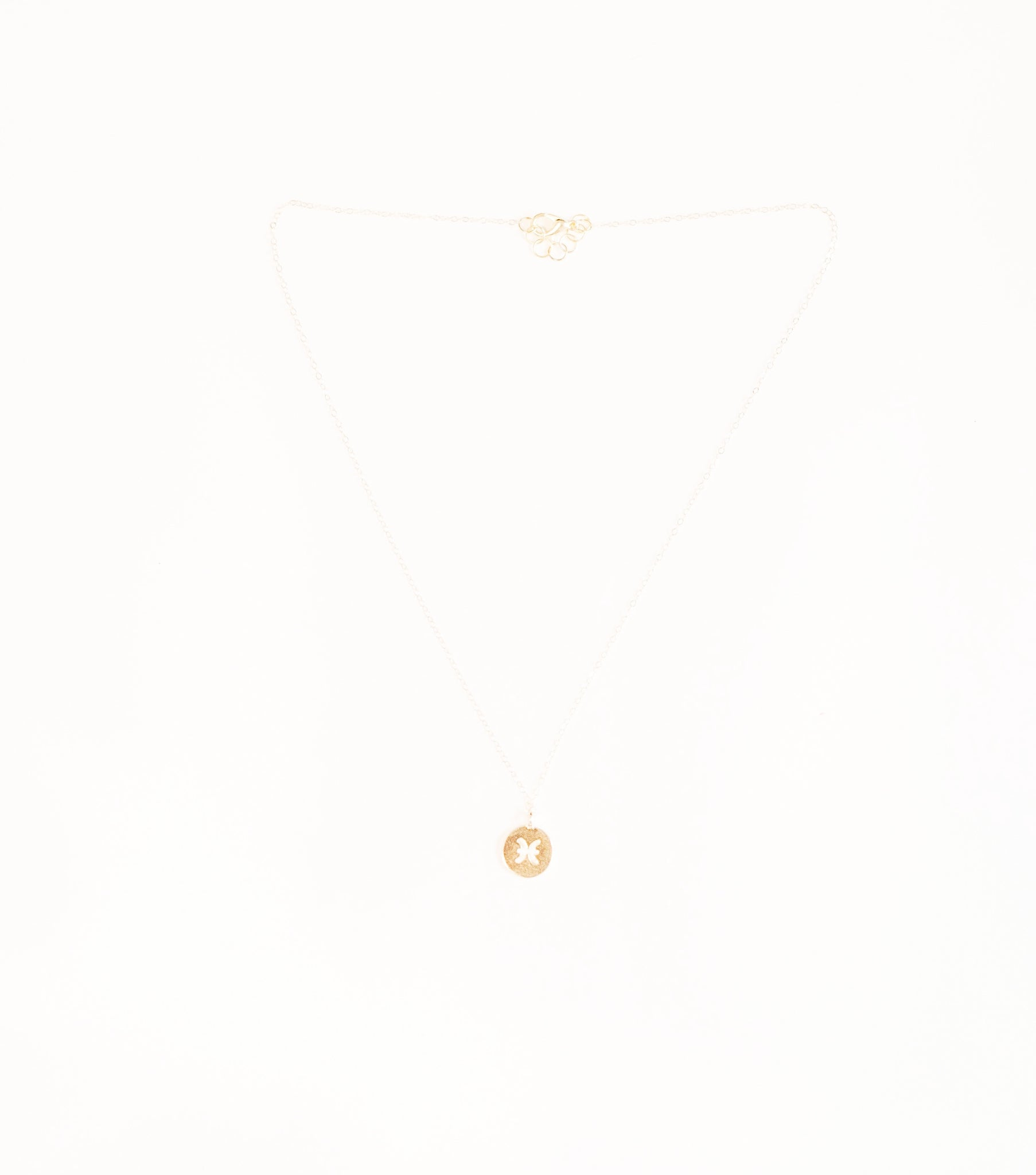 Pisces Necklace | Zodiac Necklace | 14k gold filled pisces necklace