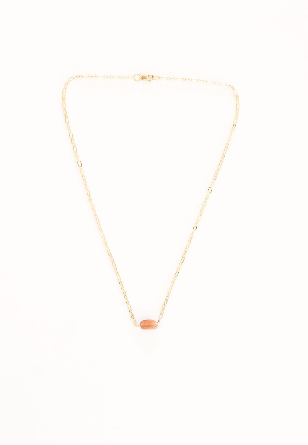Peach Moonstone crystal necklace