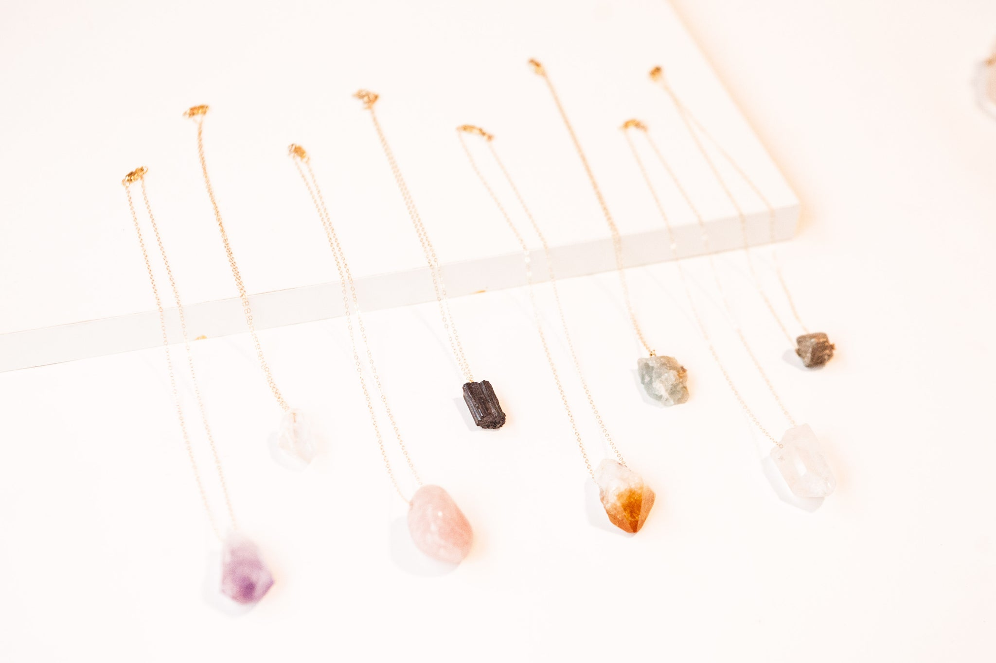 14k gold filled crystal jewelry | natural stone jewelry by Awakened Rose | The Essentials