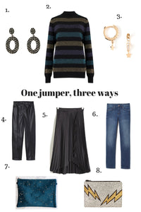 One jumper, three ways