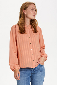 Frigga shirt in terracotta pink