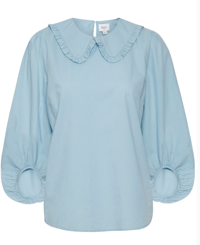 Federica cotton blouse in blue
