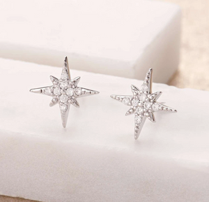 Silver-plated Starburst studs