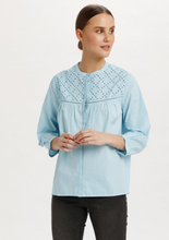 Glenia cotton shirt in pale blue