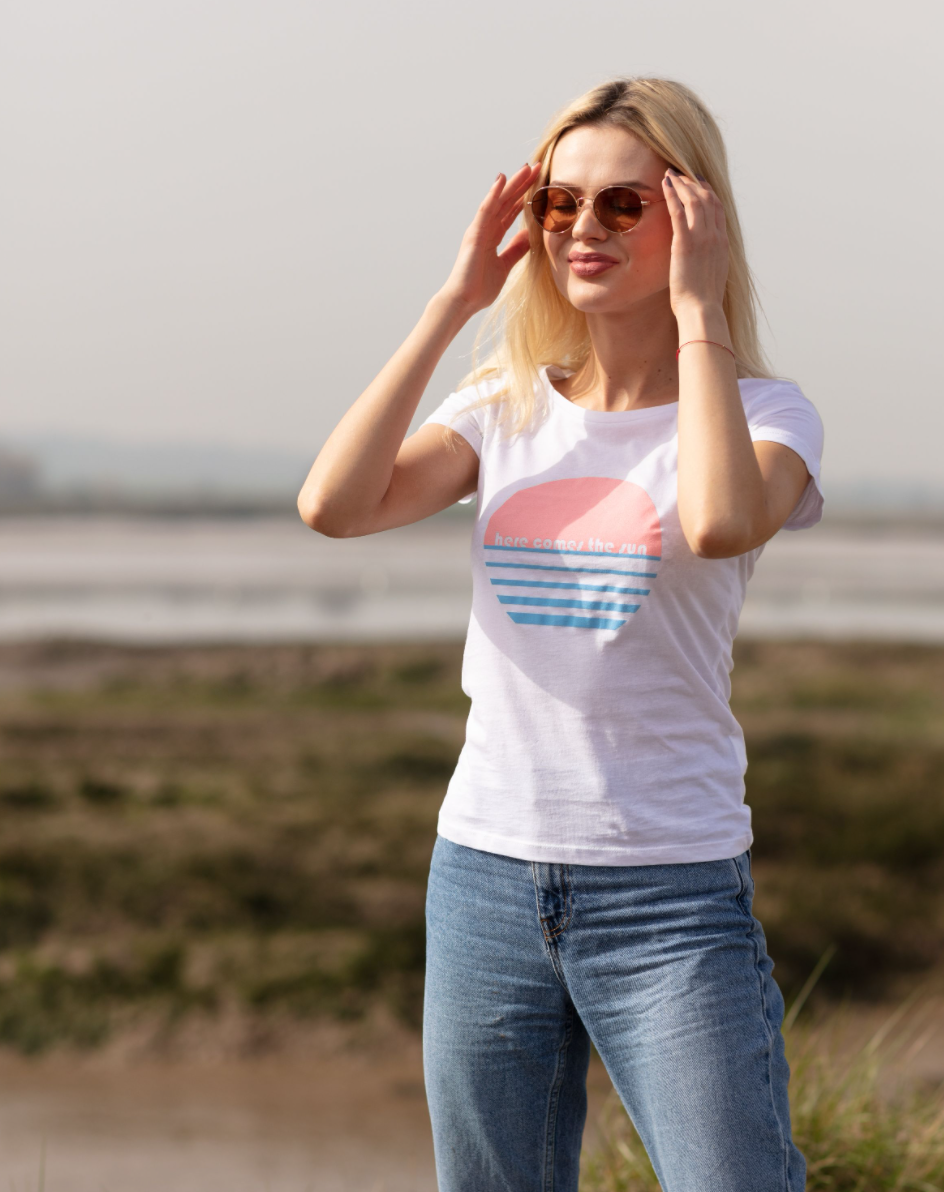 Here Comes the Sun organic cotton tee