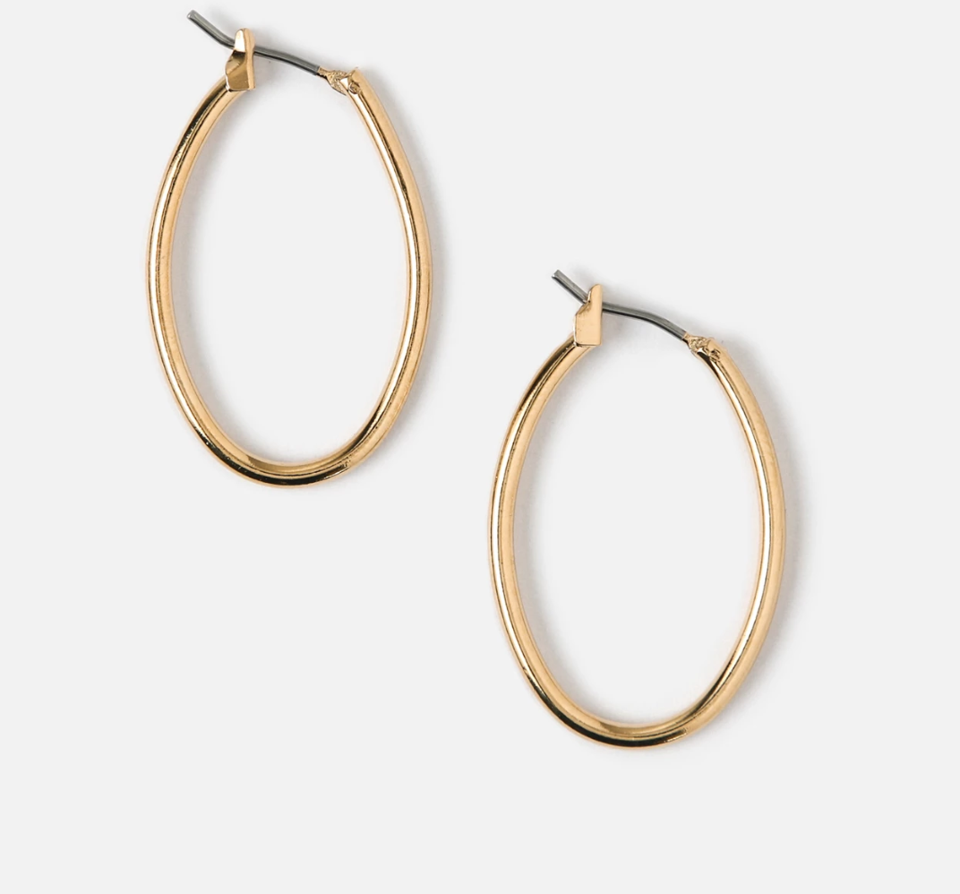 EDIT gold-plated hoops