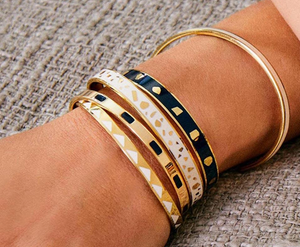 Tempo bangle in night blue