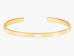 Tempo bangle in white sand
