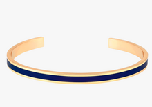 Thin bangle cuff in night blue
