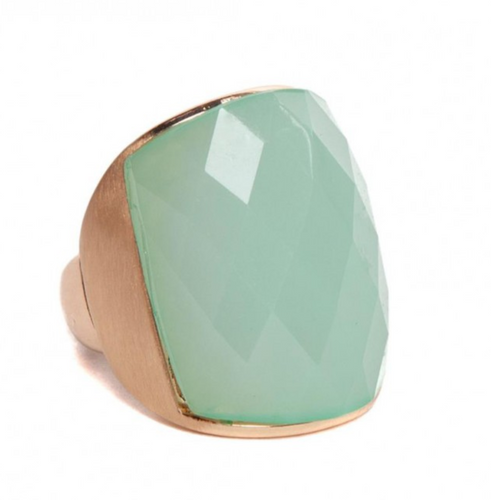 Mia cocktail ring in pale green