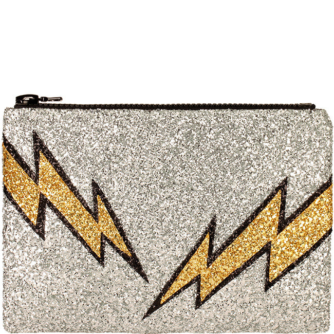 lightning bolt clutch purse i know the queen