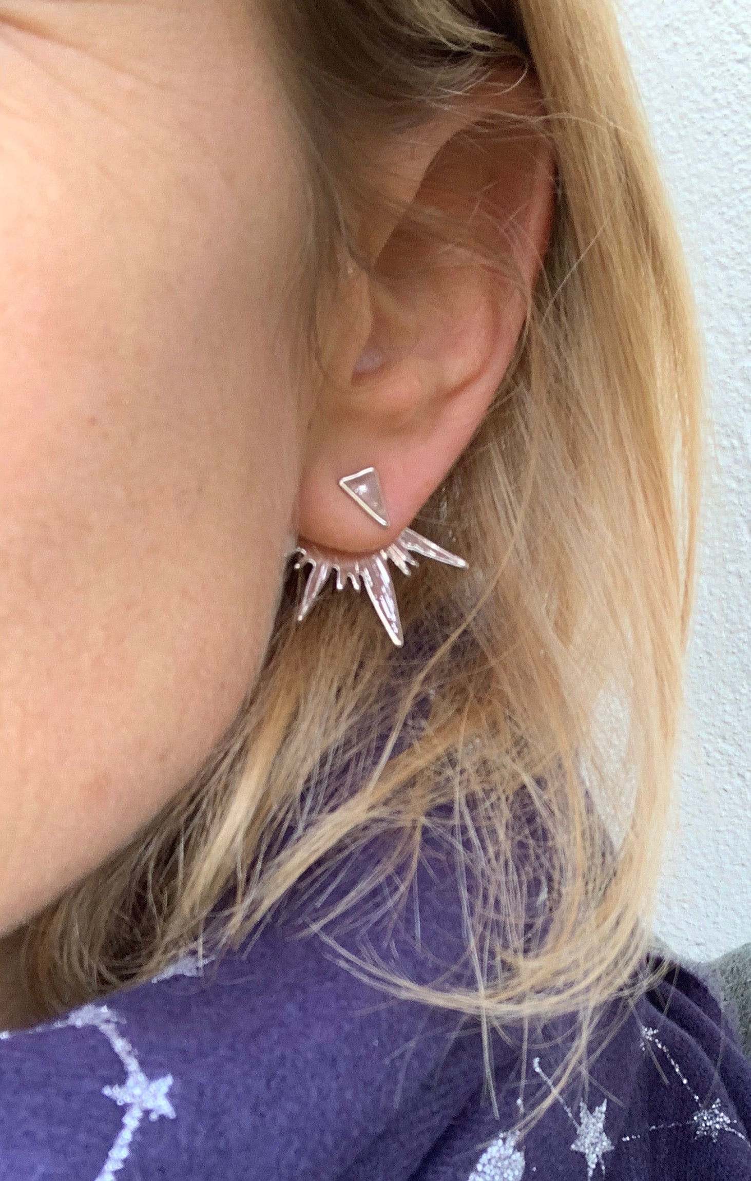 Silver Starburst spike ear jackets