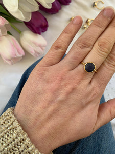 Gold-plated stacking rings