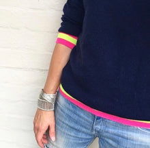 Philly cashmere jumper in navy or grey