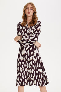 Cristy animal print dress