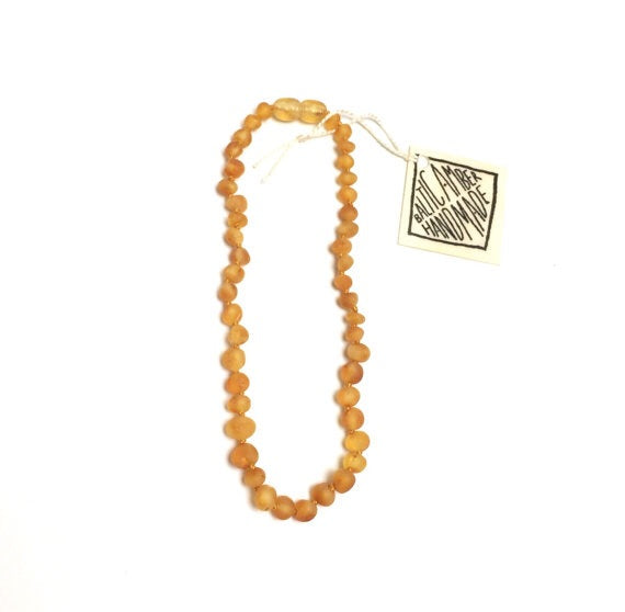 Canyon Leaf Children's Raw Baltic Amber Necklace