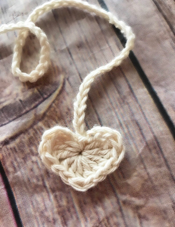 Organic Cotton Heart Umbilical Cord Tie