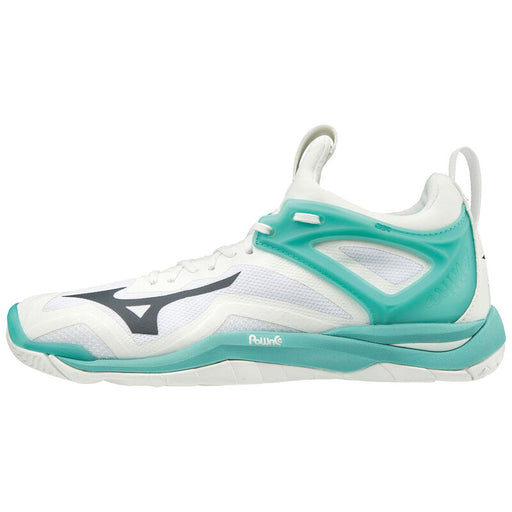 MIZUNO Wave Mirage 3 W Shoes 13 White/Blueberry/BTurquoise