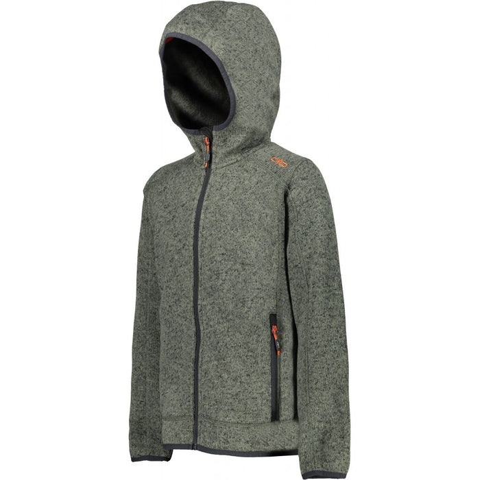 CMP Boy Jacket Fix Hood Fleece 82BH Kaki