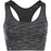 ATHLECIA Freesia W Melange Seamless Sports Bra Sport Bra 1001 Black