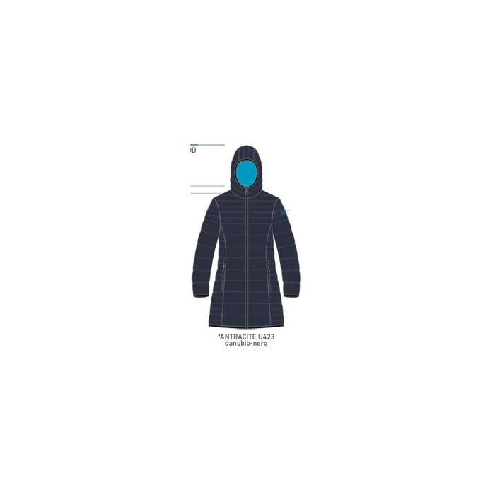 CMP Girl Coat Fix Hood Jacket U423 Antracite