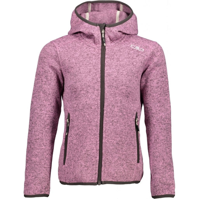 CMP Girl Jacket Fix Hood Fleece 55BH Candy-Arabica