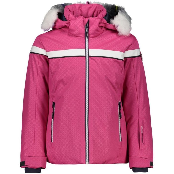 CMP Girl Jacket Stretch W/Hood WP-7000 Ski Jacket B833 Strawberry
