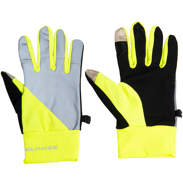 ENDURANCE Mingus Running Glove Gloves 5001 Safety Yellow