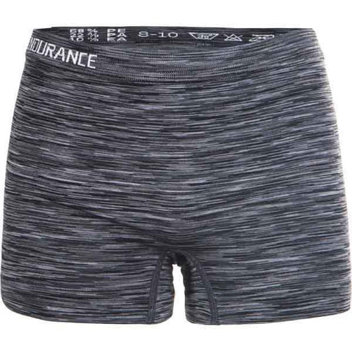 ENDURANCE Montesilvano Jr. Melange Seamless Hotpants Underwear 1001 Black