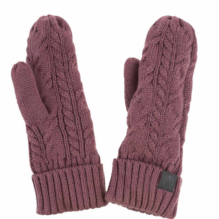 NORTH BEND NORTH BEND CABLE KNIT MITTEN SR Gloves 745 EGGPLANT