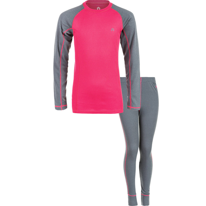 NORTH BEND NORTH BEND VIPER BASELAYER SET JR Midlayer 692 RUBY RED