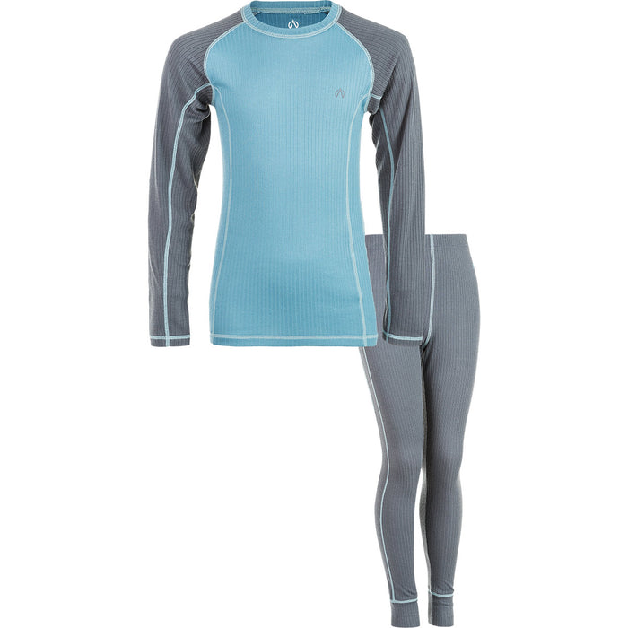 NORTH BEND NORTH BEND VIPER BASELAYER SET JR Midlayer 892 BLUE MUD